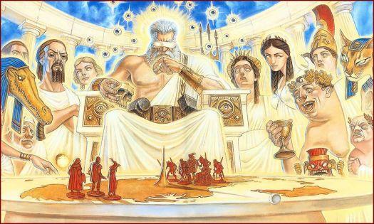 Discworld Gods by Paul Kidby