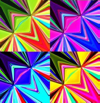 Four Glassy Squares