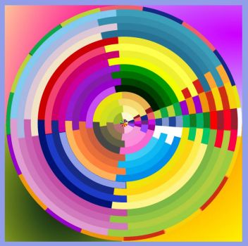 Segmented Colored Circles
