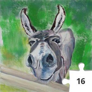 Jigsaw puzzle - Dyan Emerson- Donkey!!