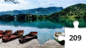 Jigsaw puzzle - lac de bled slovenie