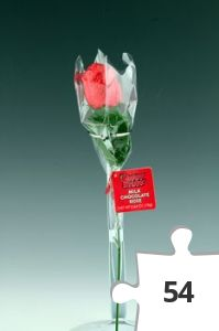 Jigsaw puzzle - Hot Stuff chocolate rose, red variant