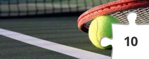 Jigsaw puzzle - Tennis racket and ball