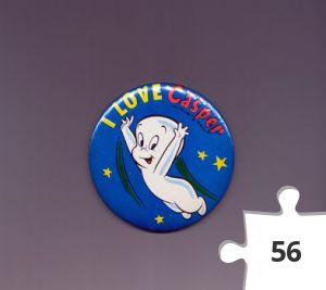 Jigsaw puzzle - I Love Casper pin-back button