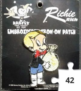 Jigsaw puzzle - Richie Rich Embroidered Iron-On Patch