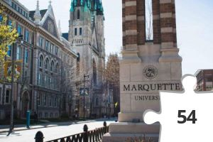 Jigsaw puzzle - Marquette Pillar on Wisconsin Ave