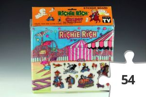 Jigsaw puzzle - Richie Rich circus sticker board