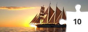 Jigsaw puzzle - Sailboat at Sunset