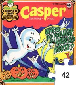 "Jigsaw puzzle - Casper ""Where Do You Hide In A Haunted House?"" story record"