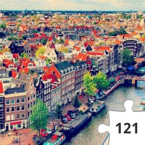 Jigsaw puzzle - amsterdam