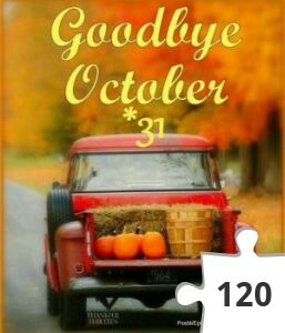 Jigsaw puzzle - Last day of october