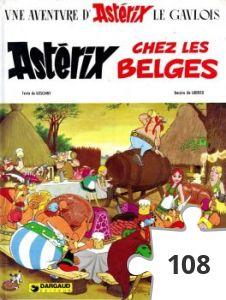 Jigsaw puzzle - asterix chez les belges