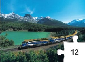 Jigsaw puzzle - Train, The Rocky Mountaineer