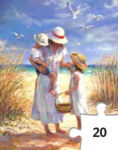 Jigsaw puzzle - A Mother's Day at the Beach