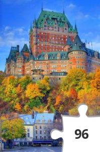 Jigsaw puzzle - quebec city canada