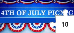 Jigsaw puzzle - July 4 Picnic Sign