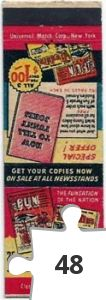 Jigsaw puzzle - Harvey Comics matchbook from 1949
