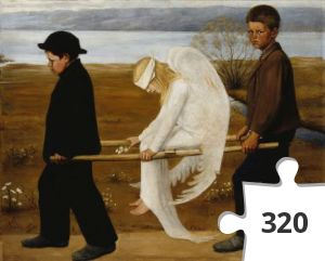 Jigsaw puzzle - The_Wounded_Angel_-_Hugo_Simberg