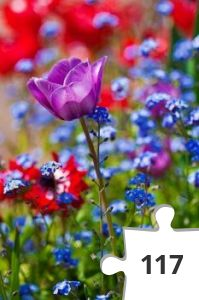 Jigsaw puzzle - bloemen