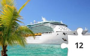Jigsaw puzzle - Cruise Ship, Blue Water