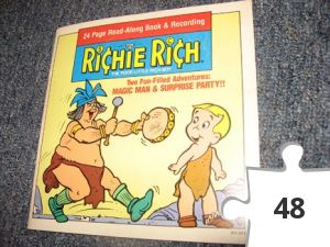 Jigsaw puzzle - Richie Rich Magic Man/Surprise Party Book and Record