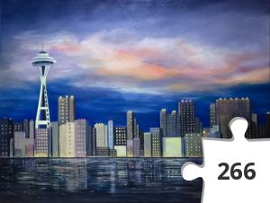Jigsaw puzzle - Seattle Skyline at Sunset