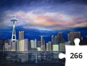 Jigsaw puzzle - Seattle Skyline at Sunset
