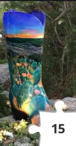 Jigsaw puzzle - Wimberly Boot Trail, Cactus