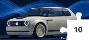 Jigsaw puzzle - Electric car- HondaEV