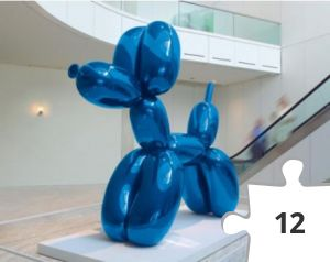 Jigsaw puzzle - Balloon Dog by Jeff Koons- Museum of Contemporary Art, Chicago