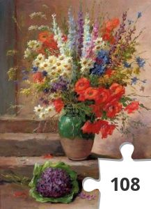 Jigsaw puzzle - Huis vol bloemen