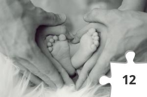 Jigsaw puzzle - Baby Feet in a Heart by Andreas Wohlfahrt