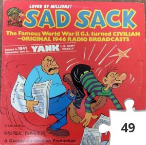 Jigsaw puzzle - Sad Sack Original 1946 Radio Broadcasts record