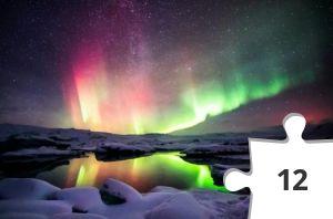 Jigsaw puzzle - Aurora Borealis, Rainbow