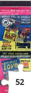 Jigsaw puzzle - Harvey Comics matchbook from 1949