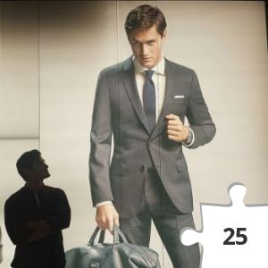 Jigsaw puzzle - Charlie Siem for Hugo Boss