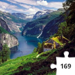 Jigsaw puzzle - geiranggerfjord norvege