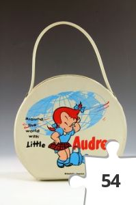 Jigsaw puzzle - Little Audrey round travel case