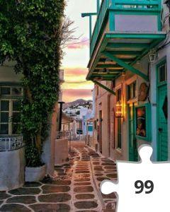 Jigsaw puzzle - mykonos Greece