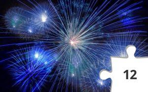 Jigsaw puzzle - Blue Fireworks by Pixabay