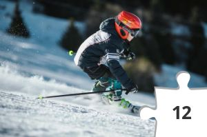 Jigsaw puzzle - Snow Skiing by Visit Almaty