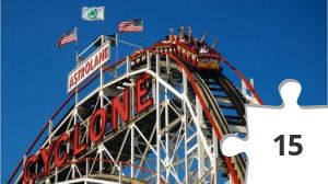 Jigsaw puzzle - Cony Island, New York- Cyclone roller coaster (which dates to 1927)