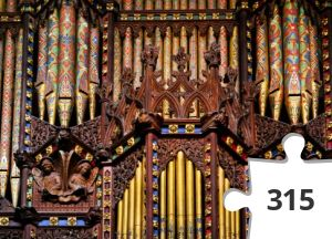 Jigsaw puzzle - Very difficult Ely organ case and pipes