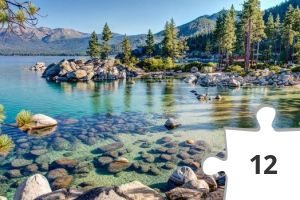 Jigsaw puzzle - Sand Harbor, Lake Tahoe, Nevada State Park by Brian Menges