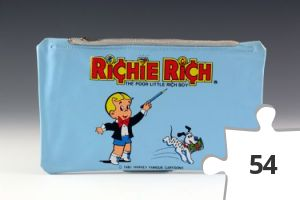 Jigsaw puzzle - Richie Rich pencil case in blue