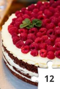 Jigsaw puzzle - Rasberry Cake by Difotolife from Pixabay