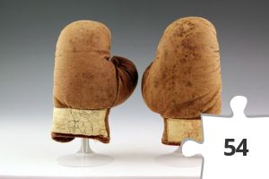 Jigsaw puzzle - Joe Palooka children's boxing gloves