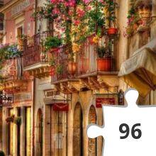 Jigsaw puzzle - taormina balconies sicily