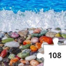 Jigsaw puzzle - Zee en gekleurde stenen
