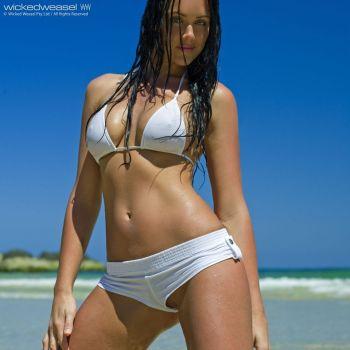 частное фото белые прозрачные купальники